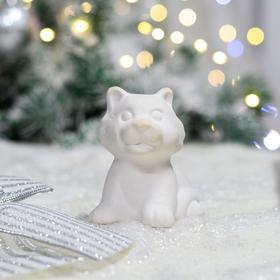 """Фигурка-раскраска """"Тигр"""", символ года 2022, под роспись, керамика, 9 см"""