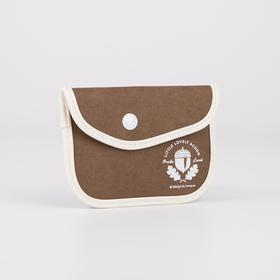 Монетница, отдел на кнопке, цвет коричневый, «Лес» Ош