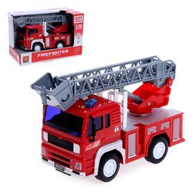 Машина инерционная «Пожарная служба», 1:20, свет и звук