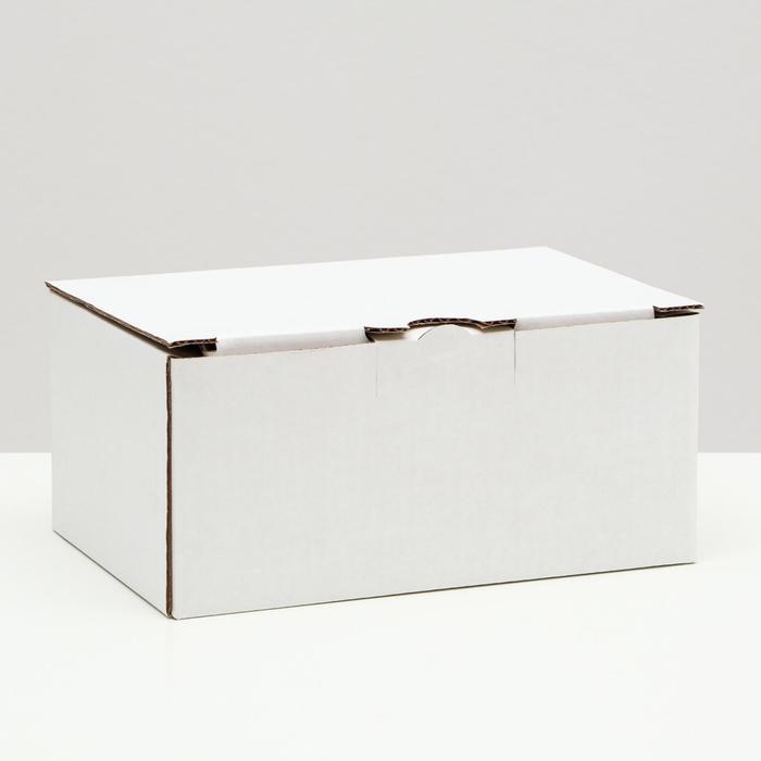 Коробка-пенал, белая, 22 х 15 х 10 см,