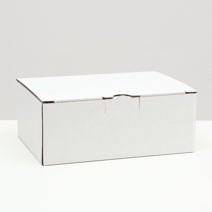 Коробка-пенал, белая, 26 х 19 х 10 см,