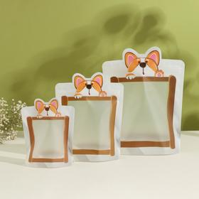Набор пакетов для хранения сыпучих продуктов, 3 шт, 18,2×23,5 см, 14,5×19 см, 11,2×14,5 см, застёжка zip-lock