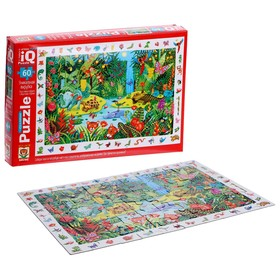 Пазл «Яркие джунгли», 60 элементов, с развивающей игрой