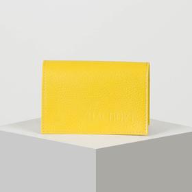 Обложка для паспорта, флотер, цвет жёлтый
