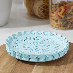 Набор тарелок «Ажур», 6 шт, 16,5×2 см, цвет МИКС