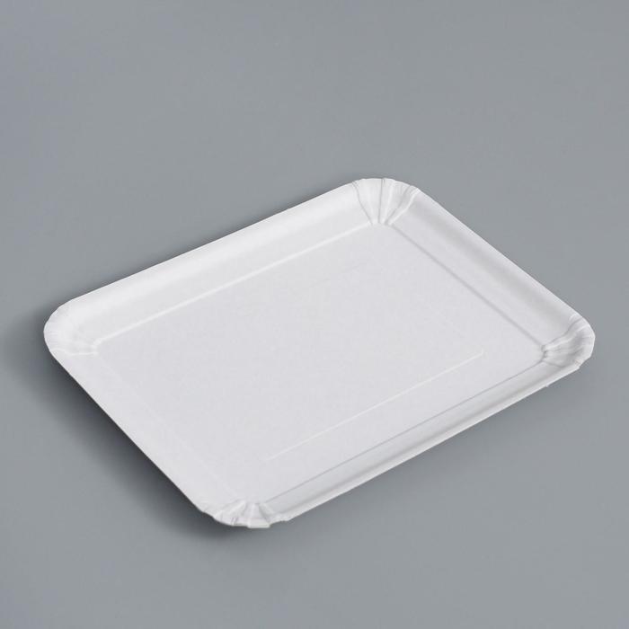 Тарелка одноразовая Белая 21 х 17 см