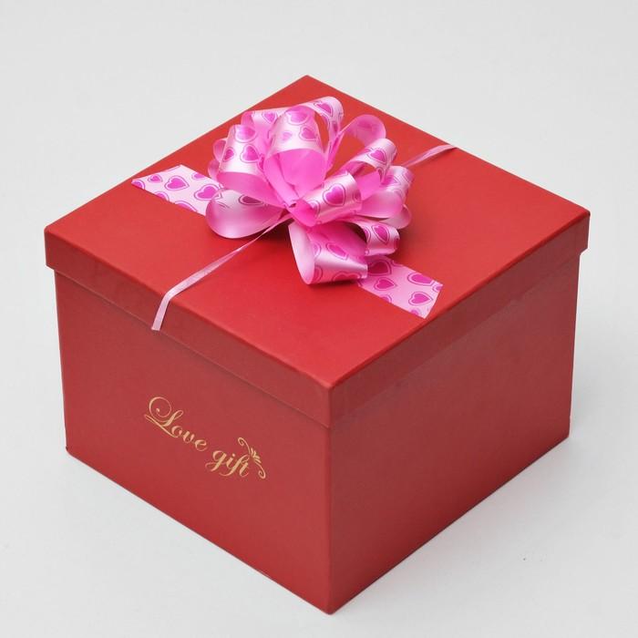 """Бант-шар №3 """"Сердца"""", цвет розовый"""
