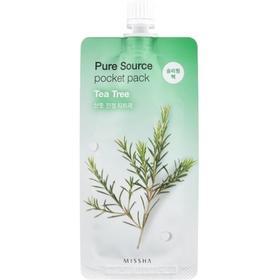 Маска для лица MISSHA Pure Source Pocket Pack Tea Tree, 10 мл