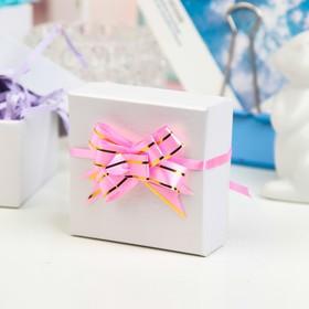 Бант-бабочка №1,2 'Золотые полосы', цвет розовый Ош