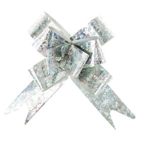 Бант-бабочка №1,2 голография, цвет серебро Ош