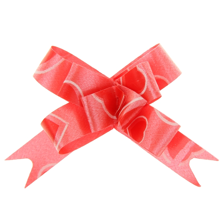 "Бант-бабочка №1,2 ""Сердца"", цвет красный"