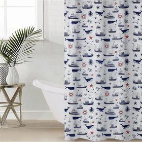 Штора для ванной комнаты «Гавань», 180×180 см, полиэтилен, цвет белый Ош