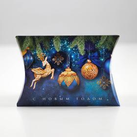 Коробка сборная фигурная «Новогодние шары», 11 × 8 × 2 см
