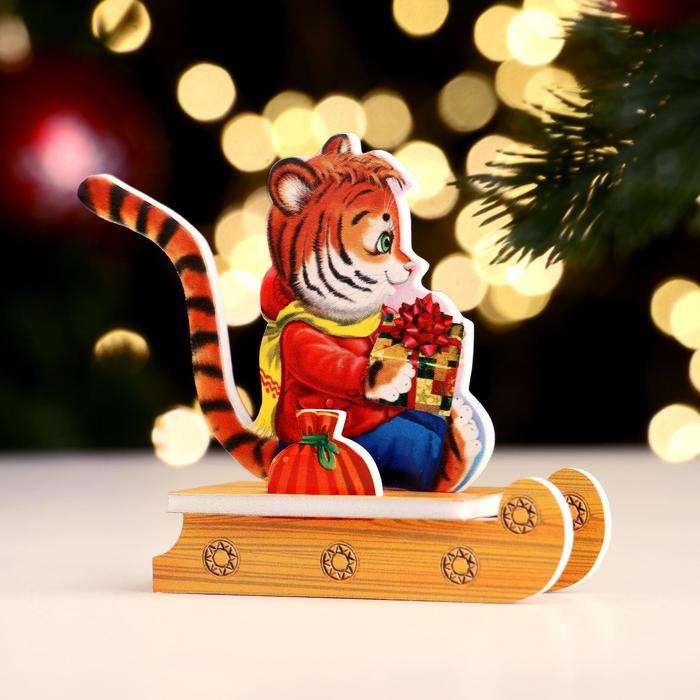 Сувенир Тигр на санях, конструктор