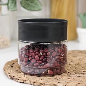 Емкость для сыпучих продуктов Asti, 500 мл, цвет чёрный