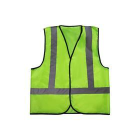 Жилет сигнальный светоотражающий, SKYWAY №21 XXL, салатовый, с вертикальными полосами, S09001012 Ош