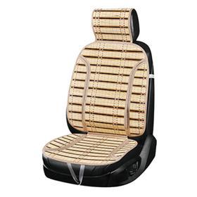 Накидка на сиденье с поддержкой спины, Summer-08, SKYWAY, бежевый, бамбук, S01302034 Ош
