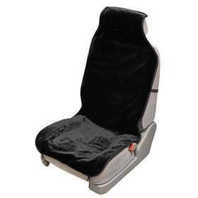 Накидка сиденья меховая искусственная мутон 1 предмет, Skyway Arctic, стандарт, черный, S03001094 Ош