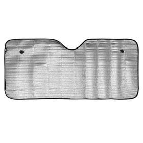Шторка солнцезащитная на лобовое стекло SKYWAY, 130x60см, фольга, S01204001 Ош