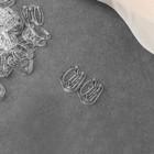 Крючок для бретелей, пластиковый, 10 мм, 10 шт, цвет прозрачный