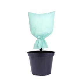 Чехол для растений, прямоугольный на завязках, 80 × 60 см, спанбонд с УФ-стабилизатором, плотность 30 г/м², белый, «Листья» Ош