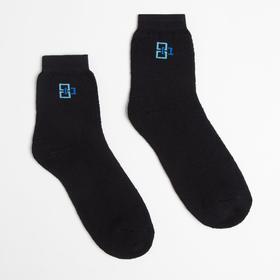 Носки детские махровые, цвет чёрный, размер 18