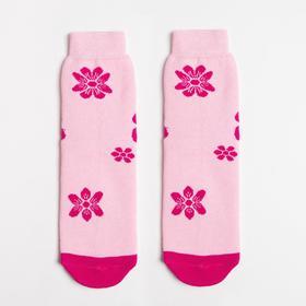 Носки женские махровые, цвет розовый, размер 23