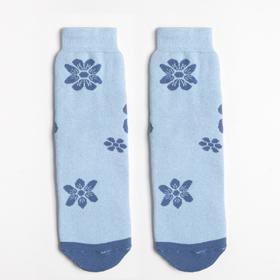 Носки женские махровые, цвет синий, размер 23