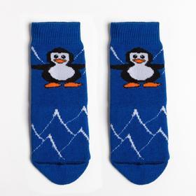 Носки детские махровые, цвет синий, размер 10