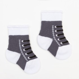 Носки детские махровые, цвет серый, размер 6