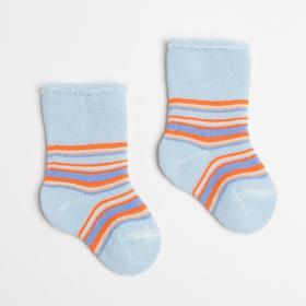 Носки детские махровые, цвет голубой, размер 6