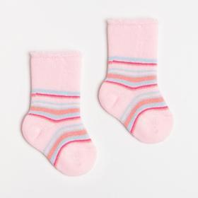 Носки детские махровые, цвет розовый, размер 6