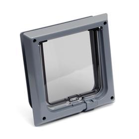 Дверца для животных «БАРСИК», проём 145*145 мм, толщина двери 36-42 мм, серый Ош