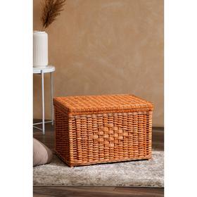 Корзина для белья, плетёная из лозы, 40x60х40 см