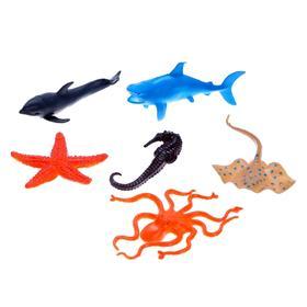 Набор морских животных «Подводное братство», 6 штук, МИКС