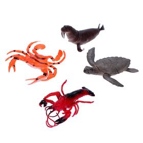 Набор морских животных «Четыре друга», 4 штуки