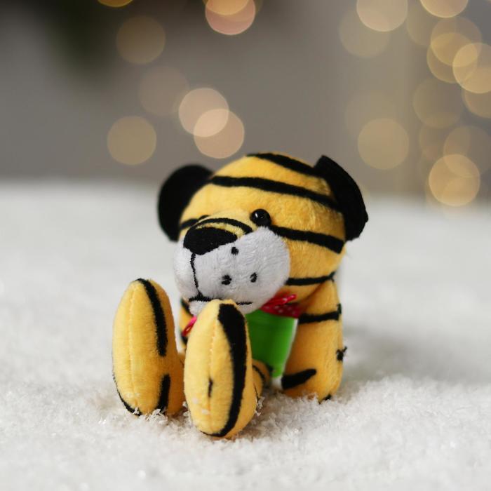 Мягкая игрушка Тигрёнок на пружинке цвета МИКС