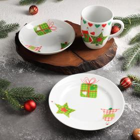 Набор подарочный «Зимняя коллекция», с тарелкой, d=17,5 см