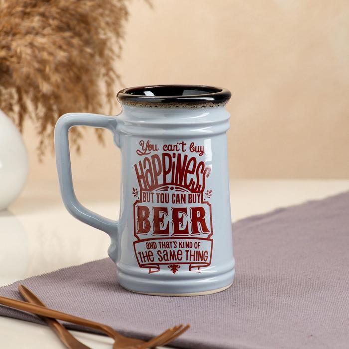 """Бокал """"Beer"""", прямой, голубой, 0.6 л"""