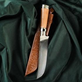 Нож Пчак Шархон - дерево Чинар, сухма, гарда, навершие мельхиор с садафом
