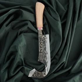 Топорик двойной для мяса Гиймякеш, орех, гарда олово, гравировка, 23 см