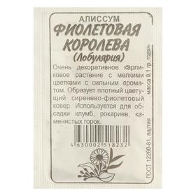 Семена цветов Алиссум 'Фиолетовая Королева', Сем. Алт, б/п, 0,1 г Ош