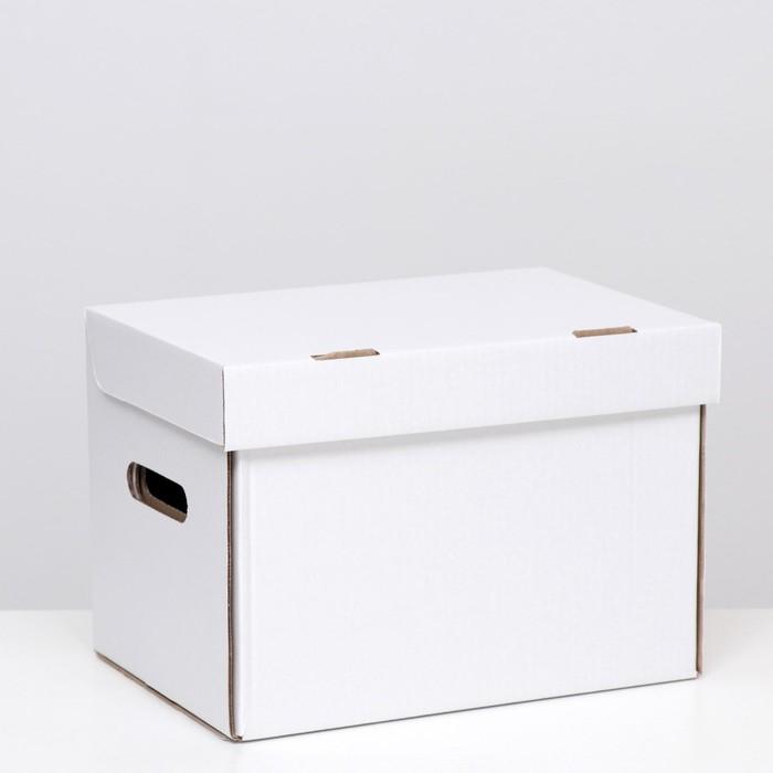 """Коробка(ящик) для хранения """"А4"""", белая, 32,5 x 23,5 x 23,5"""