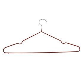 Вешалка-плечики для одежды Доляна, размер 40-44, антискользящее покрытие, цвет бронзовый