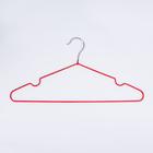 Вешалка-плечики для одежды Доляна, размер 40-44, антискользящее покрытие, цвет красный