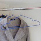 Вешалка-плечики для одежды Доляна, размер 40-44, антискользящее покрытие, цвет синий - Фото 4
