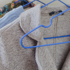 Вешалка-плечики для одежды Доляна, размер 40-44, антискользящее покрытие, цвет синий - Фото 5