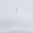Вешалка-плечики для одежды Доляна, размер 40-44, антискользящее покрытие, цвет белый