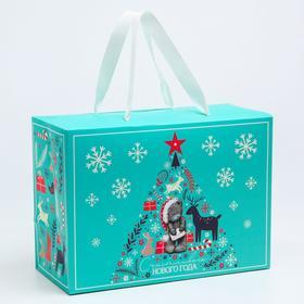 """Пакет-коробка подарочная """"Счастливого нового года"""", Me To You"""