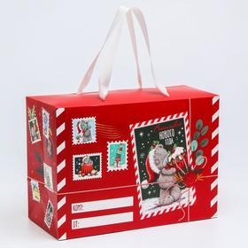 """Пакет-коробка подарочная """"Новогодняя почта деда мороза"""", Me To You"""
